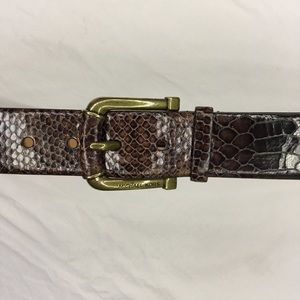 NWOT Michael Kors Belt Genuine Leather Faux 🐊